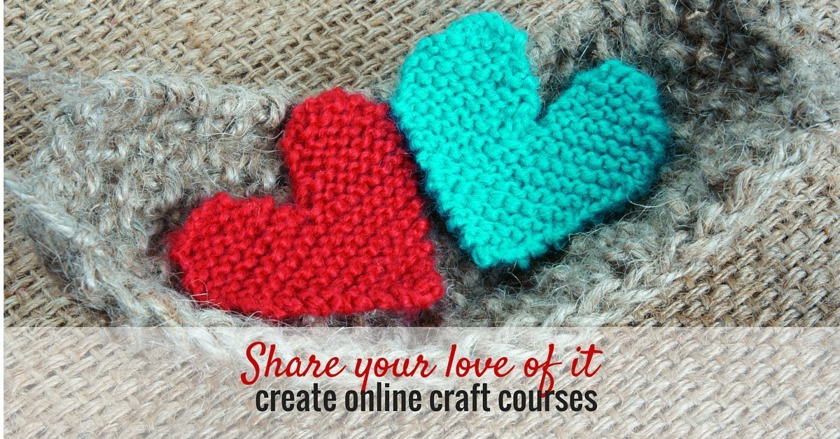 how to create your own online craft courses