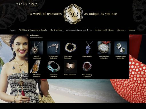 Ariaana Gems Ecommerce Website Design